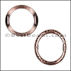 10mm flat LARGE HAMMERED RING spacer ANT COPPER - per 10 pieces