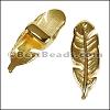 5mm flat FEATHER spacer GOLD - per 10 pieces