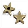 5mm flat STAR spacer ANT BRASS - per 10 pieces