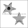 5mm flat STAR spacer ANT SILVER - per 10 pieces