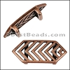 10mm Flat CHEVRON slider ANT COPPER - per 10 pieces