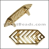 10mm Flat CHEVRON slider GOLD - per 10 pieces