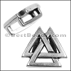10mm Flat VALKNUT slider ANT SILVER - per 10 pieces