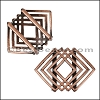 20mm Flat GEOMETRIC SQUARE slider ANT COPPER - per 10 pieces