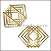 20mm Flat GEOMETRIC SQUARE slider GOLD - per 10 pieces