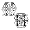 20mm Flat GEOMETRIC MANDALA slider ANT SILVER - per 10 pieces