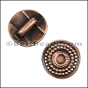 5mm Flat RADIANT CIRCLE slider ANT COPPER - per 10 pieces