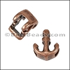 5mm Flat ANCHOR slider ANT COPPER - per 10 pieces