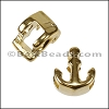 5mm Flat ANCHOR slider GOLD - per 10 pieces