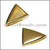 10mm Flat PLAIN TRIANGLE slider GOLD - per 10 pieces