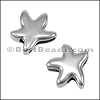 10mm Flat PLAIN STARFISH slider ANT SILVER - per 10 pieces