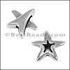 10mm flat OPEN STARFISH slider ANT SILVER - per 10 pieces