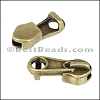 5mm flat ZIPPER slider ANT BRASS - per 10 pieces