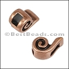 3mm flat SWIRL slider ANT COPPER - per 10 pieces