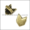 3mm flat CHEVRON slider ANT BRASS - per 10 pieces