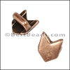 3mm flat CHEVRON slider ANT COPPER - per 10 pieces