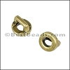 3mm flat ROUND FRAME slider ANT BRASS - per 10 pieces