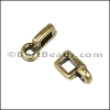 3mm flat CHARM HOLDER slider ANT BRASS - per 10 pieces