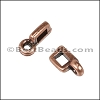 3mm flat CHARM HOLDER slider ANT COPPER - per 10 pieces