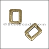 3mm flat THIN BAR slider ANT BRASS - per 10 pieces