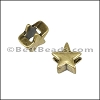 3mm flat STAR slider ANT BRASS - per 10 pieces