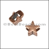 3mm flat STAR slider ANT COPPER - per 10 pieces