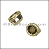3mm flat ROUND BEZEL slider ANT BRASS - per 10 pieces