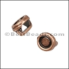 3mm flat ROUND BEZEL slider ANT COPPER - per 10 pieces