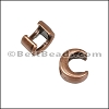 3mm flat CRESCENT MOON slider ANT COPPER - per 10 pieces
