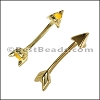 3mm flat ARROW slider SHINY GOLD - per 10 pieces