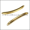 3mm flat ID BAR slider SHINY GOLD - per 10 pieces