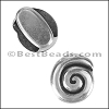 10mm flat SPIRAL slider ANT SILVER - per 10 pieces