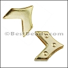 10mm flat REVERSIBLE CHEVRON slider GOLD - per 10 pieces