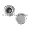 5mm flat REVERSIBLE CIRCLE slider ANT SILVER - per 10 pieces