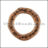 SMALL HAMMERED RING slider ANTIQUE COPPER - 10 pcs