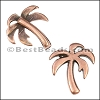 10mm flat PALM TREE slider ANT COPPER - per 10 pieces