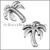 5mm flat PALM TREE slider ANT SILVER - per 10 pieces