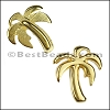 5mm flat PALM TREE slider GOLD - per 10 pieces