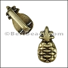 5mm flat PINEAPPLE slider ANT BRASS - per 10 pieces