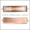 10mm flat ID BAR slider ANT COPPER - per 10 pieces