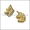 5mm flat UNICORN slider GOLD - per 10 pieces
