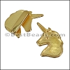 10mm flat UNICORN slider GOLD - per 10 pieces