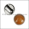 5mm flat CARAMEL ROUND RESIN slider ANTIQUE SILVER - per 10 pieces