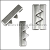 30mm flat JOINING ZIGZAGS slider ANTIQUE SILVER - per 10 pieces