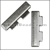 30mm flat TWO BLOCK EDGE slider ANTIQUE SILVER - per 10 pieces