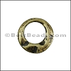 SMALL IRREGULAR RING slider ANT BRASS - per 10 pieces