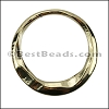 MEDIUM IRREGULAR RING slider SHINY GOLD - 10 pcs