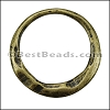 MEDIUM IRREGULAR RING slider ANT BRASS - 10 pcs