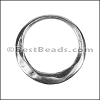 MEDIUM IRREGULAR RING slider ANT SILVER - 10 pcs