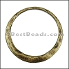 LARGE IRREGULAR RING slider ANT BRASS - 5 pcs